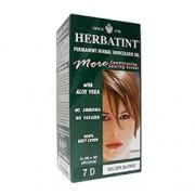 HERBATINT PERMANENTES PFLANZLICHES HAARFŽRBEGEL (7D - Goldblond) 1 oder 2 Anwendungen