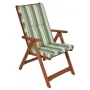 Kerti 5 pozíciós karfás szék párnával zöld 8200620