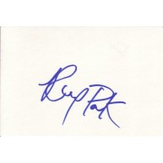 Ray Park Autographed Index Card