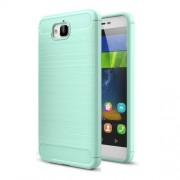 Huawei Enjoy 5 & Y6 Pro Brushed Texture Carbon Fiber TPU Protective Case(Green)