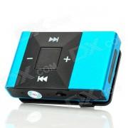 Bateria recargable de pantalla gratis MP3 Player w / TF Slot / jack de 3?5 mm - Azul + Negro