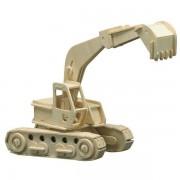 Puzzle eco 3D din lemn Excavator Pebaro