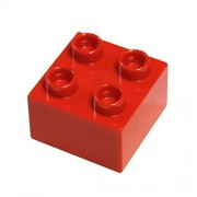 LEGO Parts and Pieces: DUPLO Red (Bright Red) 2x2 Brick x20 by LEGO