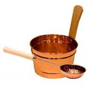 Harvia Copper Metal Sauna Bucket - Longer Lasting Sauna Bucket