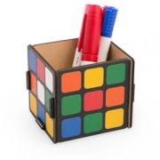 Porta Lápis e Porta Treko Cubo Mágico MDF