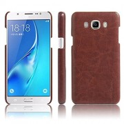 Vegus Cover For Samsung Galaxy J2 (2016) Leather Back Cover (Brown)
