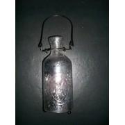 Windlicht aus Bauernglas in Flaschenform