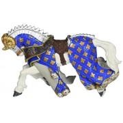 Cavallo del cavaliere testa di ariete blu Papo cod. 39914