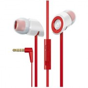 Creative Hitz MA-350 In-Ear Noise Isolating Headphones with 9mm Driver and In-Line Mic and Volume Control (Red) (Discont