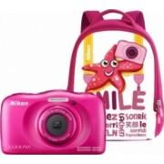 Aparat Foto Compact Nikon Coolpix Wateroproof W100 + Backpack Kit Roz