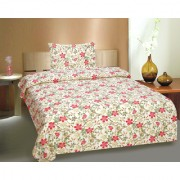 Ctm Textile Mills 100 Cotton Single Bed Sheets With 1 Pillow Cover(RTL-896)