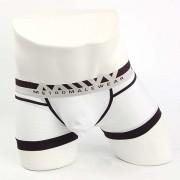 MIIW Perfect Scene Hip Contrast Trunk Underwear White 1013C-00