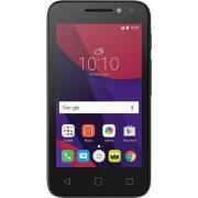 "Telefon Mobil Alcatel OT Pixi 4, Procesor Quad-Core 1.3GHz, TFT Capacitive touchscreen 4"", 512MB RAM, 4GB Flash, 3MP, 3G, Wi-Fi, Dual Sim, Android (Negru) + Cartela SIM Orange PrePay, 6 euro credit, 4 GB internet 4G, 2,000 minute nationale si internationa"