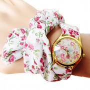 Mulheres Relógio de Moda Quartz Banda Flor Branco marca-