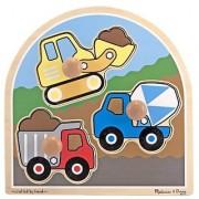 Construction Site Jumbo Knob Puzzle + FREE Melissa & Doug Scratch Art Mini-Pad Bundle [33954]