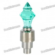 Sensor de vibraciones multicolores 1-LED decorativo Tire de la valvula tapon de luz - Verde (3 x AG10)