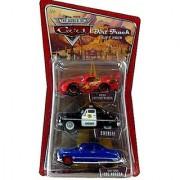 Disney / Pixar CARS 1:55 Die Cast Figure 3-Pack Cactus McQueen Dirt Track Doc amp; Sheriff