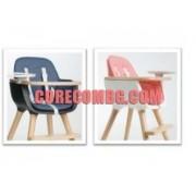 MICUNA -Стол за хранене OVO - бук/тъмно синьо