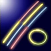 Lot De 10 Batons Sticks Bicolores Lumineux Fluorescents - Bracelets Fluo