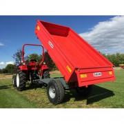 príves vyklápací pre traktor 3-stranné vyklápanie DELEKS RM 14 T3