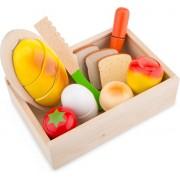 New classic toys Snijset ontbijt box hout
