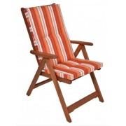 Kerti 5 pozíciós karfás szék párnával narancs 8200630