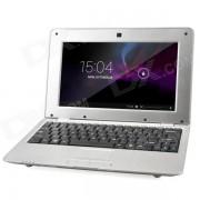 """HL-1088 10"""" LCD android 4.4.2 netbook con LAN / RJ45 / camara - plata"""