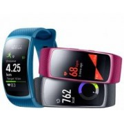 Samsung Wearable Gear FIT 2 SM-R3600 inkl. Samsung Level U Bluetooth-Ohrhörer pink