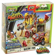 Trash Pack Trash Wheels - Blazing Fire Station Playset