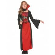 Disfarce vampiro rapariga Halloween 7 - 9 anos
