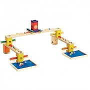 Hape Quadrilla Wooden Marble Run Construction - Music Motion - Quality Time Playing Together Wooden Safe Play - Smart Play for Smart Families
