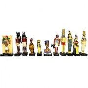 Ancient Egypt Egyptian God 11 Figurines Set Resin Statue size 5 high (Anty Atoum Noun Aton Seth Selkis Renenoutet