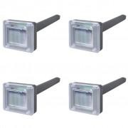 vidaXL Repelente Solar de Roedores / 4 peças
