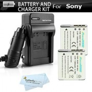 2 Pack Battery and Charger Kit for Sony NP-BN1 Cyber-shot DSC-QX100 DSC-QX10 DSC-T99 DSC-T110 DSC-TX5 DSC-TX7 DSC-TX9 DSC-TX10 DSC-W330 DSC-w800 DSCW800/B W800/B W800/S DSC-W830 DSCW830/B DSCW830 DSC-WX220 DSCWX220/B Digital Camera