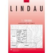 Fietskaart - Topografische kaart - Wegenkaart - landkaart 28 Lindau | Swisstopo