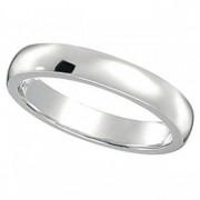 Dome Comfort Fit Wedding Ring Band Palladium (3mm)
