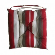 Almofadas para Cadeiras Barcelona 43x43 Listras vermelhas