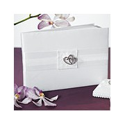 Classic Double Heart Traditional Guest Book