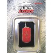Fullmetal Alchemist: Edward's Symbol (Flamel) Dog Tag Red Necklace