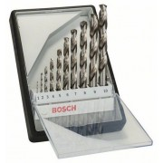 BOSCH 10 részes Robust Line HSS-G fémfúró készlet, 135°