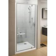 Ravak Pivot PDOP1-90 egyrészes kifelé nyíló zuhanyajtó króm hatású kerettel, króm zanér és fogantyú, transparent edzett biztonságiüveg betéttel