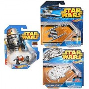 Vulture Droid & Millennium Falcon Ship & Chopper Hot Wheels Star Wars Space 3 pack Set