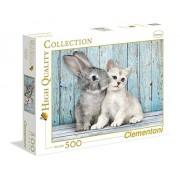 Clementoni 35004 - Cat e Bunny Collezione Alta Qualità Puzzle, 500 Pezzi