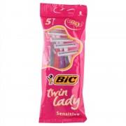 Bic Lady Sensitive Disposable Razors 5 st Engångsrakhyvlar