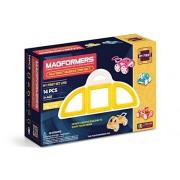 Magformers - My First Buggy Car, set de 14 piezas magnéticas, color amarillo (702005)