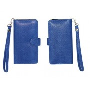 J Cover A9 Anya Leather Carry Case Cover Pouch Wallet Case For Apple iPhone 7 Plus 256GB Eoxtic Blue