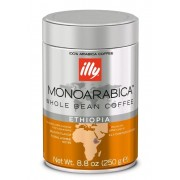 Cafea illy Espresso monoarabica ETIOPIA boabe cu cofeina 250gr