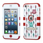 Funda Protector Triple Layer Apple Ipod Touch 5G / 6G Blanco / Rojo Buhos