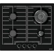 Plita pe gaz incorporabila Gorenje GW6N41IB, 4 arzatoare, gratare fonta, arzator wok, negru