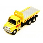 International 24 Hour Towing Yellow Rollback Tow Truck Diecast with Pullback Action
